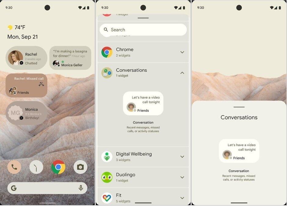 Android 12 aperçu