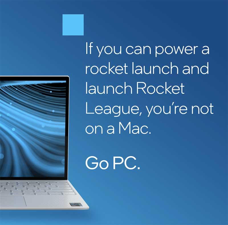 Publicité intel ce moquant de Apple