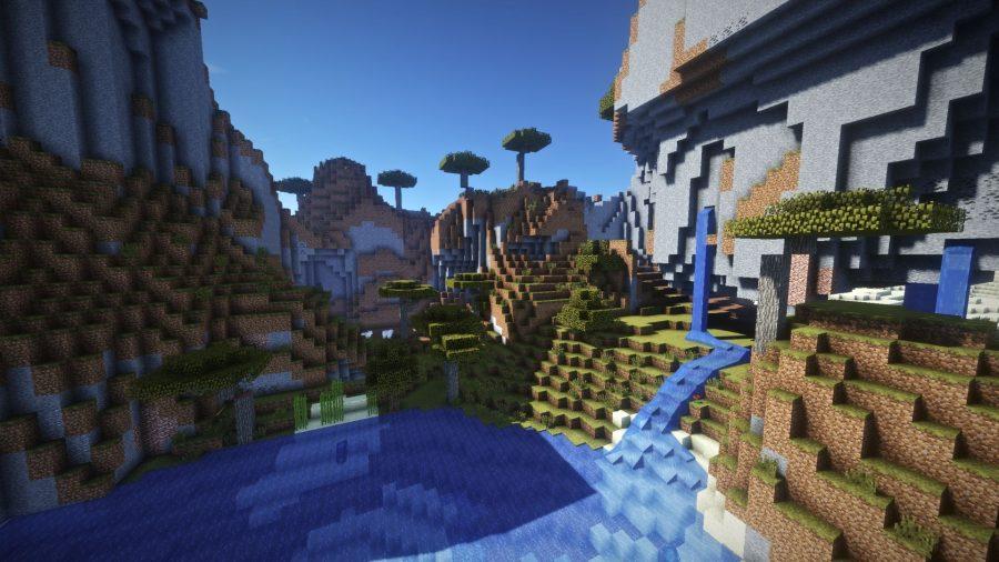 Trop d'effets de shaders Minecraft