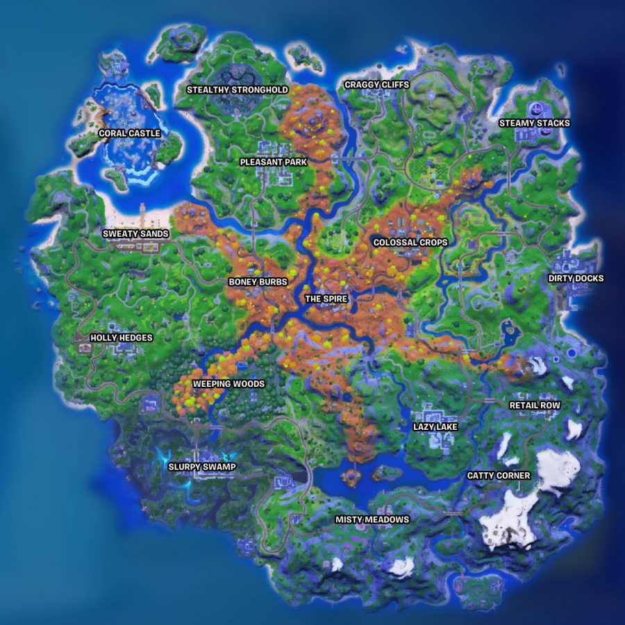 The new Fortnite map in Chapter 2 Season 6. The desert is now a forest.