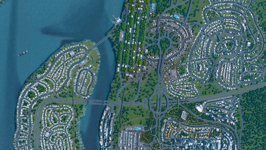 A well planned city in one of the best building games, Cities Skylines