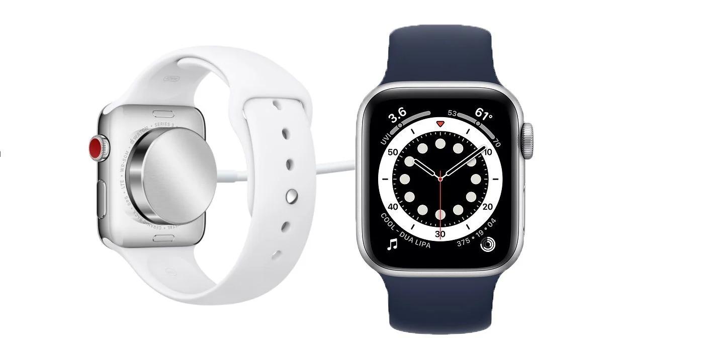 La charge d'une Apple Watch