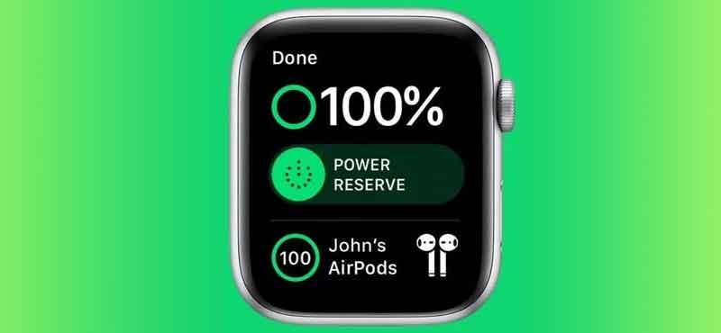 Puissance d'une Apple Watch en charge